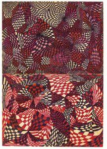 """Insomia Drawing 8 (1981). """"Estos dibujos se desarrollaron a partir de un sistema predeterminado, inspirado en los experimentos de surrealistas como Dolfi Trost"""", señala el crítico Ashton Cooper."""