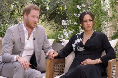 Príncipe Harry y Meghan Markle en la entrevista con Oprah