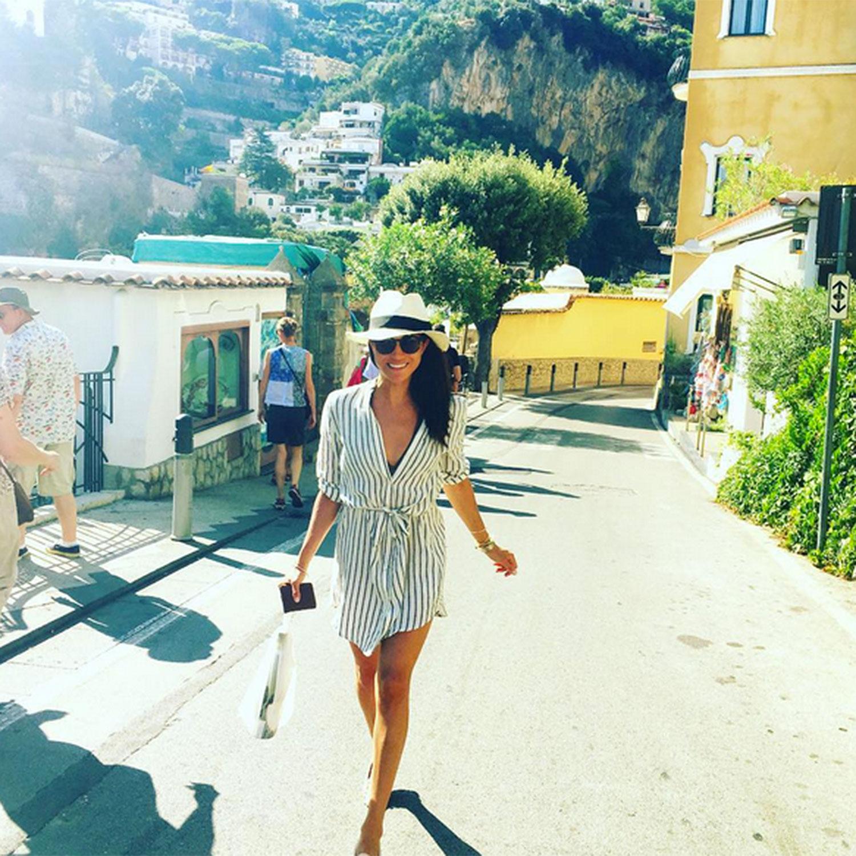 Meghan en Positano
