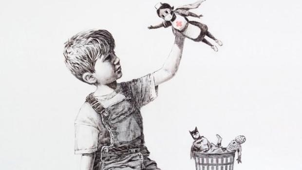 La última obra de Banksy es un homenaje a los trabajadores de la salud