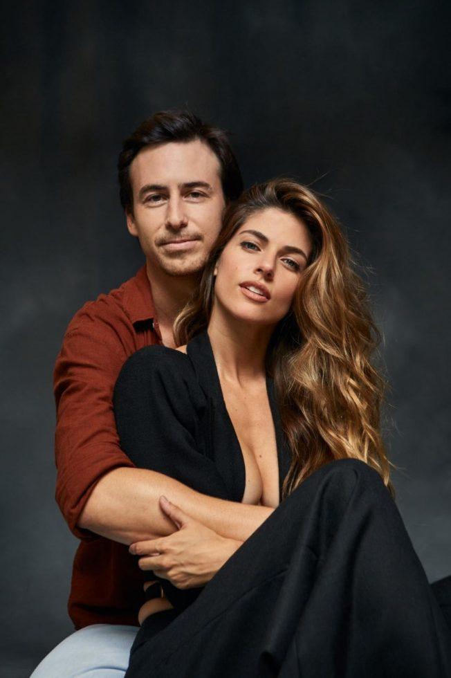 Bruno Ascenzo junto a su amiga y protagonista del filme, Stephanie Cayo.