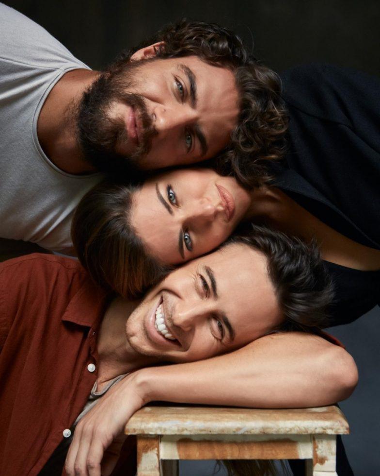 Iglesias, Cayo y el director del largometraje, Bruno Ascenzo.