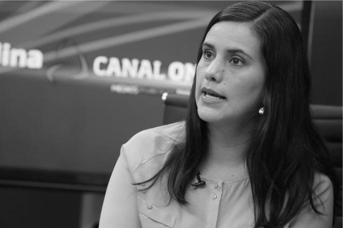 Verónika Mendoza en el debate organizado por el JNE.