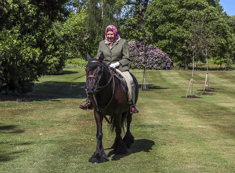 Los hijos duques Cambridge siguen la tradición de equitación, uno de los pasatiempos favoritos de la Reina