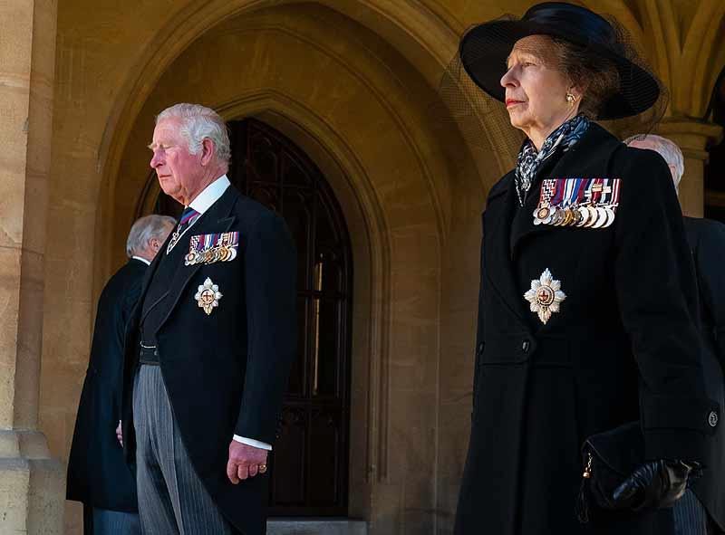 Charles y Anne, hijos del príncipe Philip