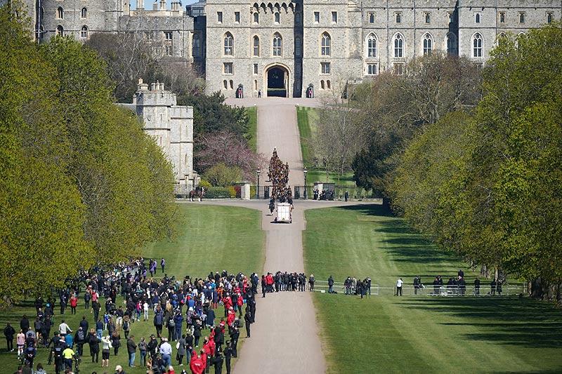 príncipe Philip - las afueras del castillo de Windsor 1