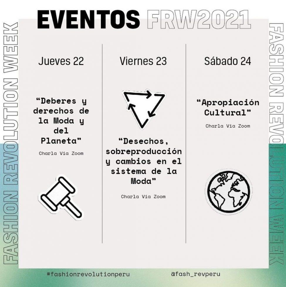 EVENTOS FASHION REVOLUTION WEEK