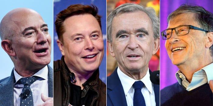 los 4 hombres más ricos del mundo