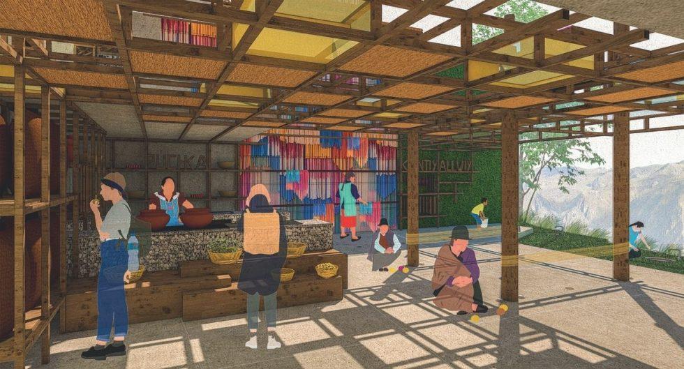mujeres tejedoras en Huancavelica UPC