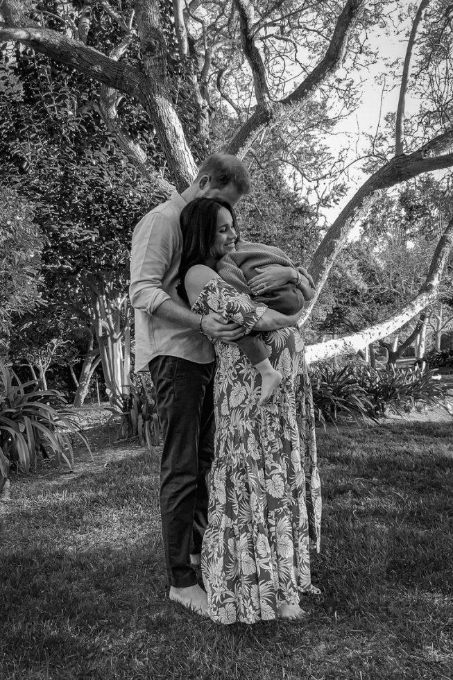 Meghan y Harry bebé