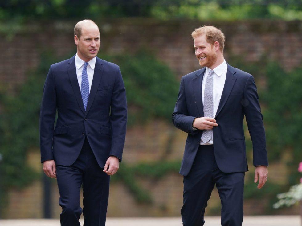 príncipe Harry y William