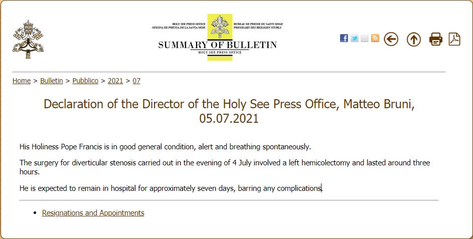 Prensa de la Santa Sede 2