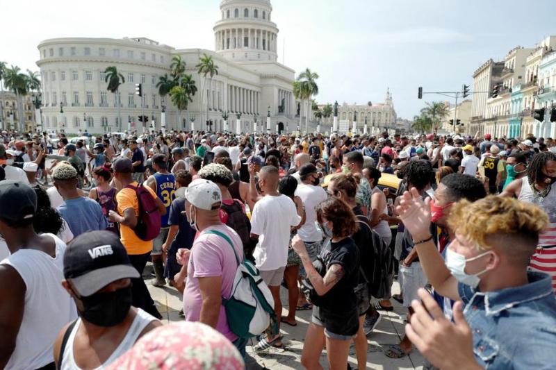 PROTESTAS CUBA LA HABANA