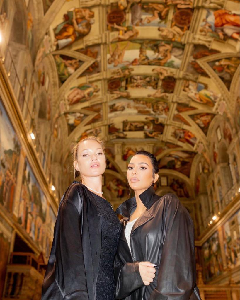 Kim y Kate Moss